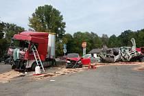 Nehoda v Lípě nad Orlicí.