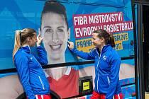 Mediální den s týmem basketbalistek České republiky před mistrovstvím Evropy v Hradci Králové.