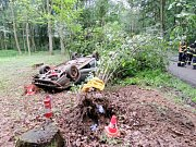 Havárie automobilu u Starých Nechanic.