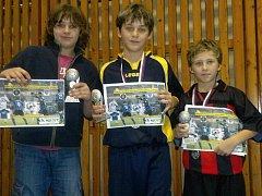 Za halového turnaje AP Tour Cup mladších žáků ve fotbale.