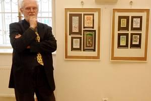 Výstava jihomoravského grafika a ilustrátora Oldřicha Pálečníka v královéhradecké galerii Na Hradě.