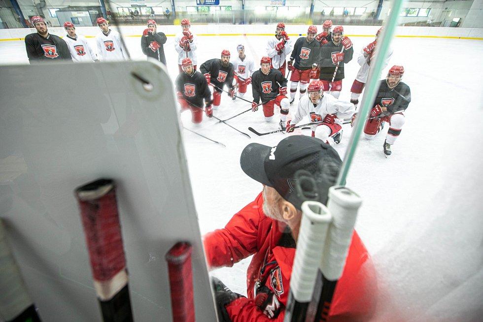 NA LEDĚ. Hokejisté Hradce Králové zahájili finální fázi přípravy na nový extraligový ročník.