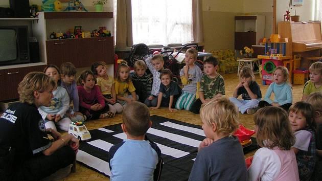 Prevence strážníků v mateřské škole