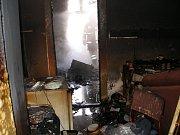 Požár v Městci Králové v neděli 9. května 2010.
