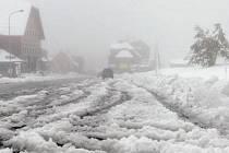 První sníh v Krkonoších - Horní Malá Úpa.
