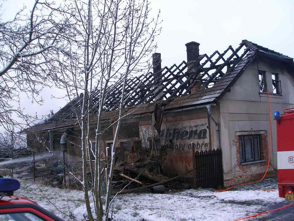 Požár v Chlumci nad Cidlinou
