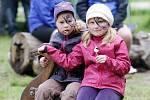 Den rodiny na Mazurových chalupách v královéhradeckých Městských lesích.