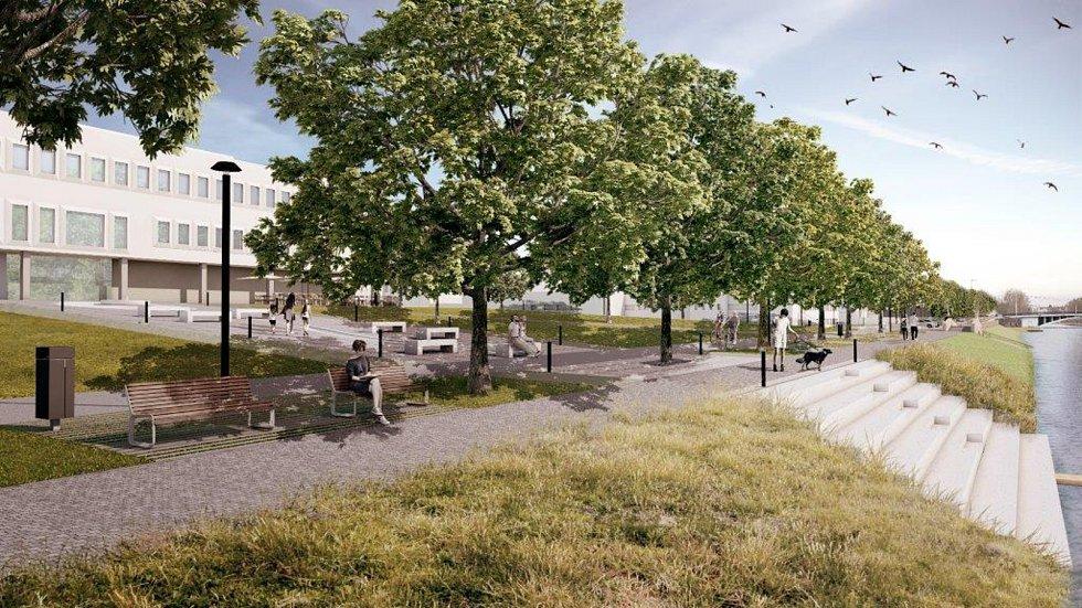 Hradecká zóna Aldis je prozatím jakousi Popelkou v centru města. Během pár let by se však ráz této lokality měl výrazně změnit. VIzem města i architekta Pavla Zadrobílka oičátí s novou zelenou čtvrtí.