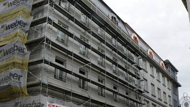 Rekonstrukce budovy Galerie moderního umění v Hradci Králové.
