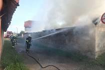 Zásah hasičů v Lovčicích.