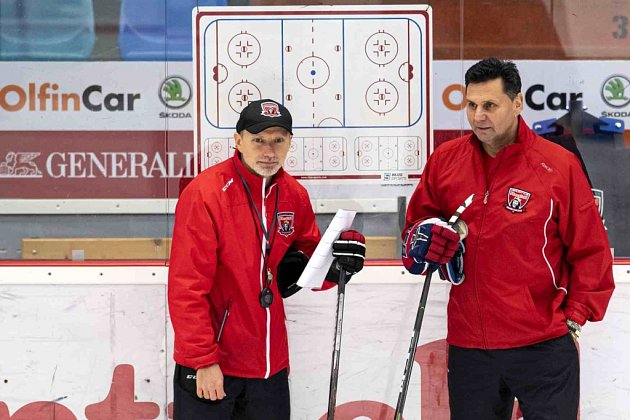 Tomáš Martinec a Vladimír Růžička (vlevo).