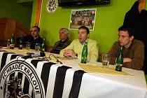 Tisková konference FC Hradec Králové ve čtvrtek 4. března v restauraci Černý kůň na Malém náměstí.