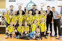 Florbaloví starší elévové FBK Hradec Králové na turnaji Nisa Open.