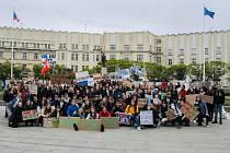 Studenti stávkovali za klima i v Hradci Králové.