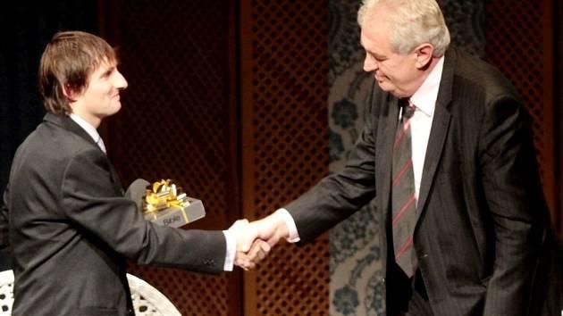 Prezident Miloš Zeman při zahájení Dnů pro Izrael v Hradci Králové.