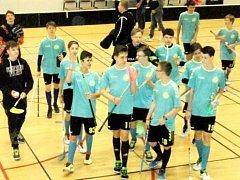 FBC Sion - Hradečtí Lvi na florbalovém turnaji Gothia Cup ve švédském Göteborgu.