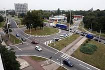Kruhový objezd na Brněnské třídě