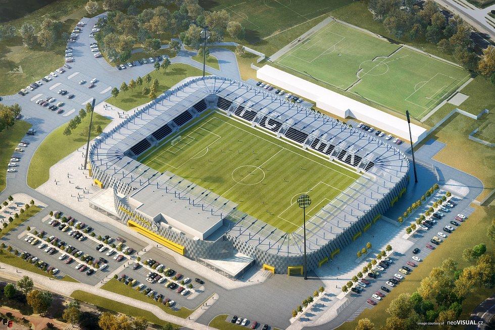 Vizualizace stadionu v Malšovicích