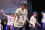 Soutěž tanečních skupin v kongresovém centru Aldis v Hradci Králové.