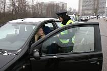 Preventivní akce dopravních policistů v Hradci Králové.