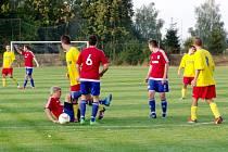 Krajská fotbalová I. B třída: TJ Slavoj Předměřice nad Labem - FC České Meziříčí.