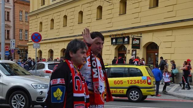 Zahájení semifinále play off hokejové extraligy v Hradci Králové.