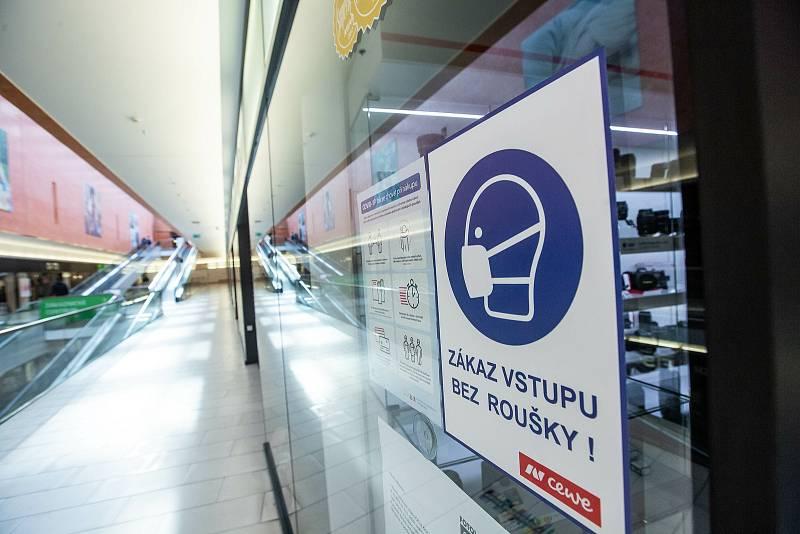 Zavřené obchody v Nákupních centrech v OC Atrium a OC Aupark