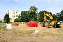 Na Pouchově vyroste nová tělocvičná hala i s parkovištěm.