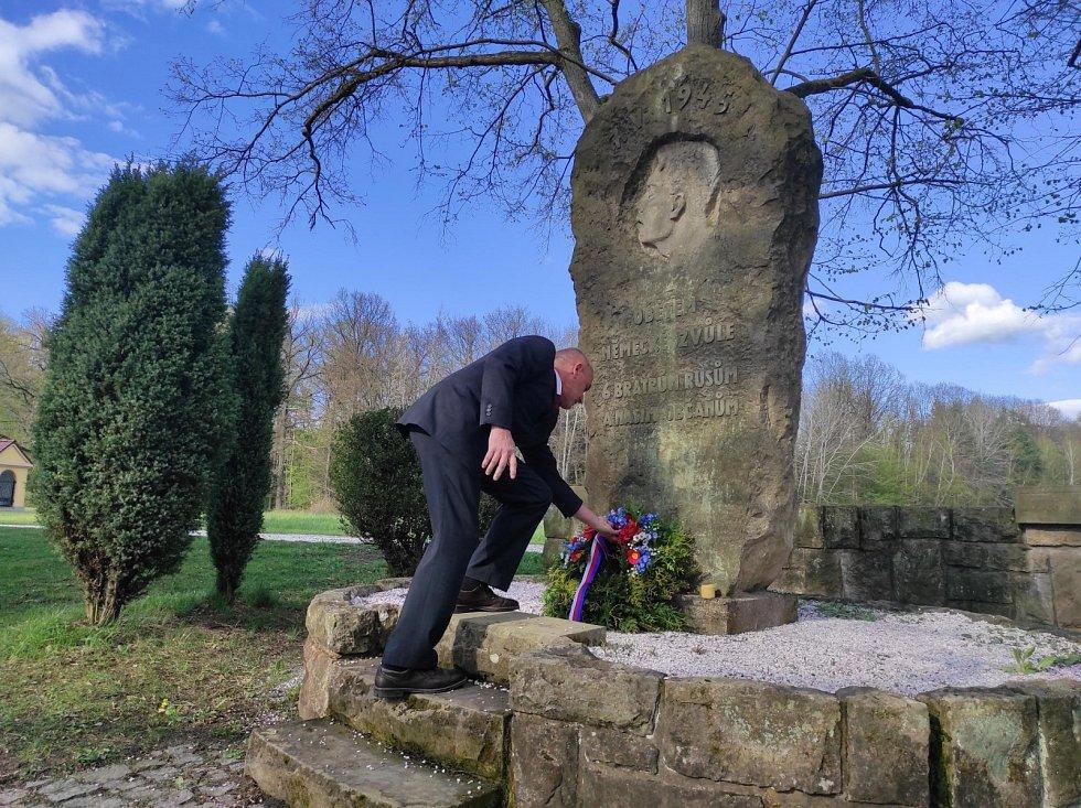 Připomínka konce 2. světové války v obci Vysoká na Labem, 8. května 2021