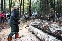 Den lesní techniky v královéhradeckých městských lesích.
