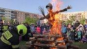 Čarodějnice uspořádali hasiči z Třebše a obětaví občané.