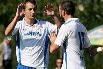 Vlevo převýšovský fotbalista Ivo Svoboda.