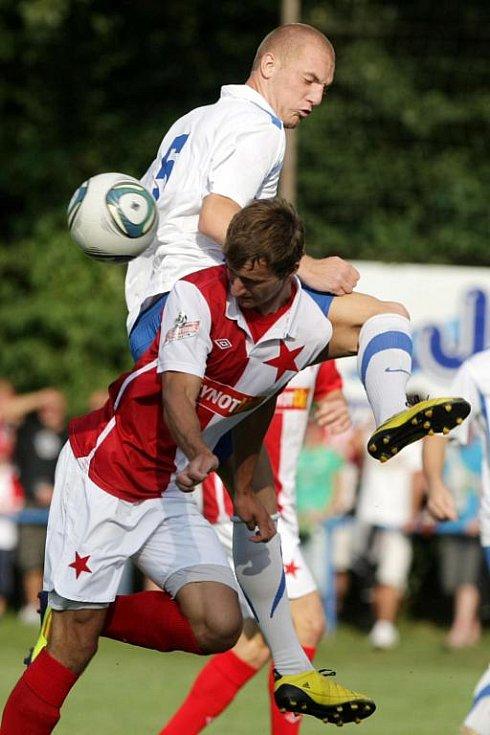 Ze zápasu SK Převýšov - SK Slavia Praha (3:0).