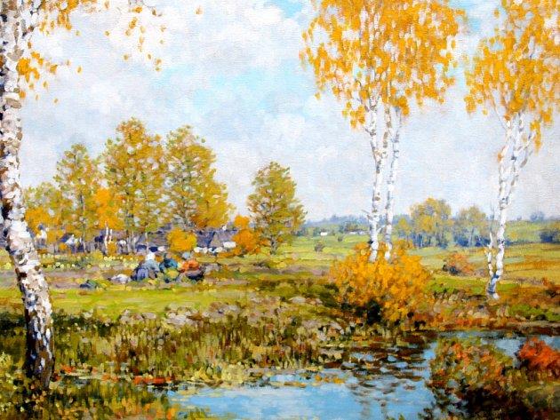 Obraz krajináře Karla Wagnera.