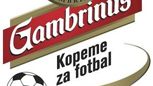 Logo projektu Gambrinus kopeme za fotbal. Ilustrační fotografie.