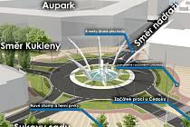 Takto by okružní křižovatka u Koruny měla vypadat už zhruba v polovině příštího roku. Rekonstrukce začne podle plánu letos o letních prázdninách.
