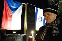 Mezinárodní den památky obětí holocaustu v Hradci Králové.