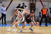 Ženská basketbalová liga: BK Žabiny Brno - Sokol Nilfisk Hradec Králové.