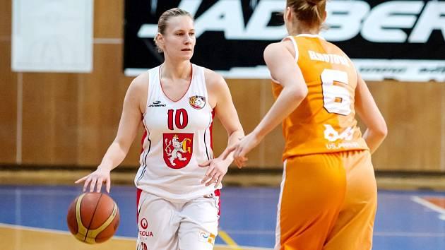 Ženská basketbalová liga: TJ Sokol Hradec Králové - VŠ Praha.