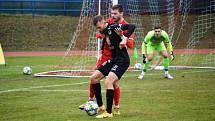 Fotbalová FORTUNA:NÁRODNÍ LIGA: FK Blansko - FC Hradec Králové.