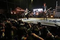 Rock for People, třetí festivalový den, 6.7.2009:  Placebo (GBR).