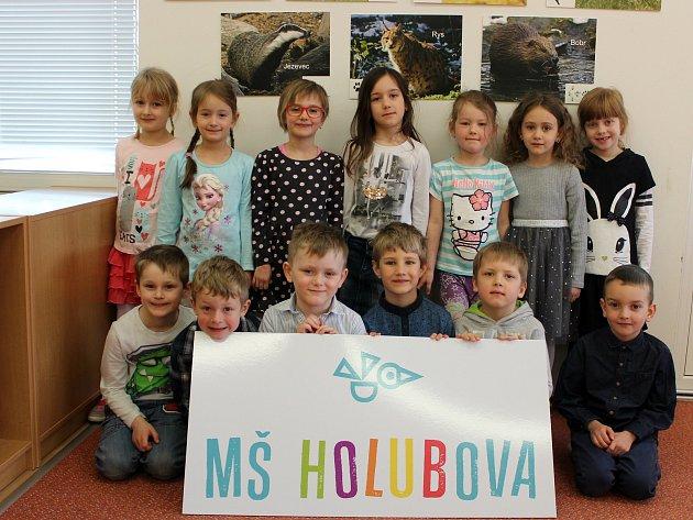 MŠ Holubova - třída Marťánci: Sofie, Dominika, Natálka, Laura, Anička, Viktorka, Sára, Adam, Felix, Kryštof, Eliáš, Matěj, Matyáš.