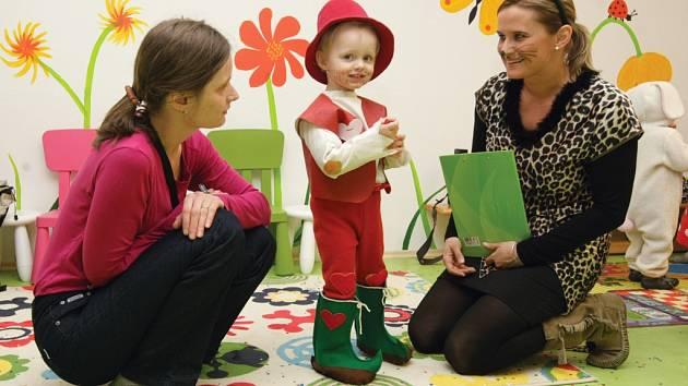Dětský karneval v Rodinném centru pohoda v Hradci Králové.
