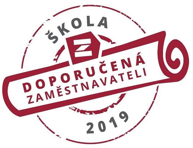 Škola doporučená zaměstnavateli - logo soutěže.