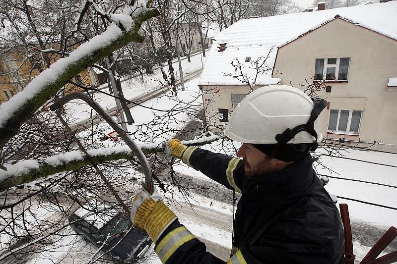 Sněhová situace v Hradci, 7. prosince 2010.