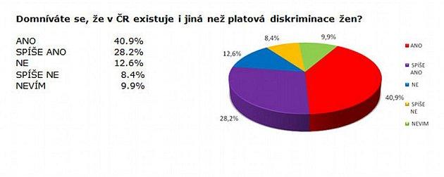 Průzkum na téma Platová diskriminace žen