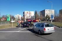 Dopravní nehoda v Hradci Králové, ul. Hradecká