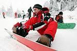 Na vrcholu Černé hory je třicet až čtyřicet centimetrů sněhu, proto se provozovatelé lyžařského areálu rozhodli 13. prosince zprovoznit alespoň jeden vlek, a to Sport 1, kde je upravená sjezdovka.