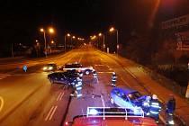Dopravní nehoda dvou osobních vozidel v Kladské ulici v Hradci Králové.