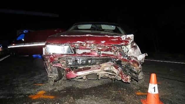 Havárie osobního automobilu u Černožic.
